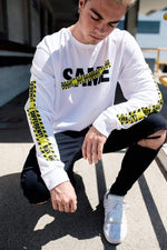 Jordan Beau: Signature 'Same But Different' White Long Sleeve Shirt