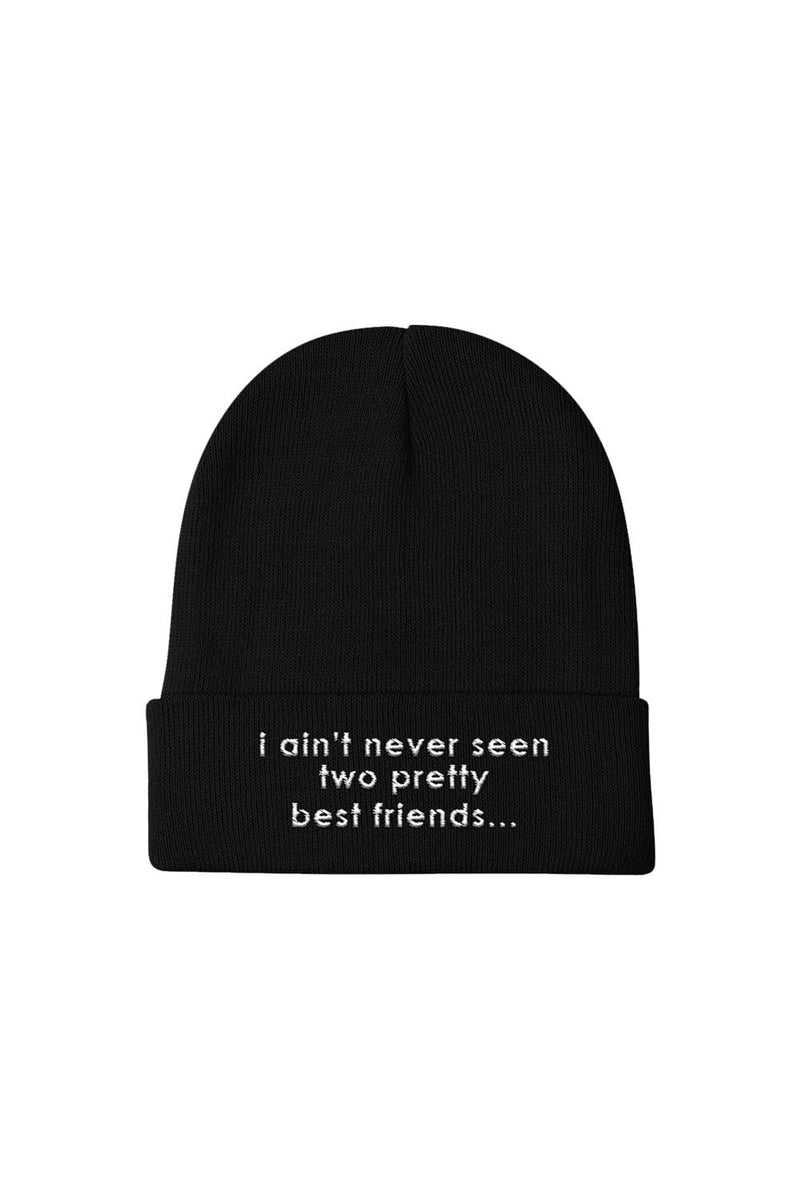 Jordan Scott: Two Pretty Friends Black Beanie