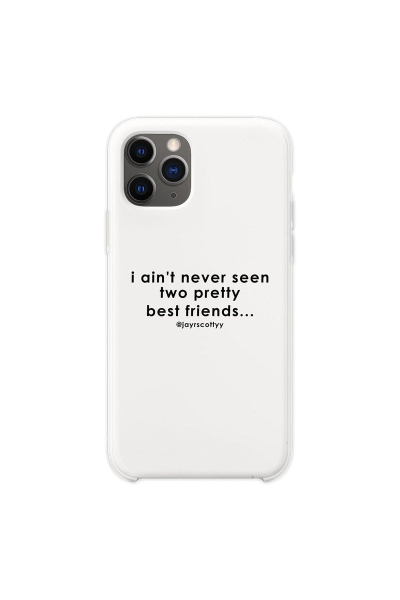 Jordan Scott: Two Pretty Friends White Phone Case