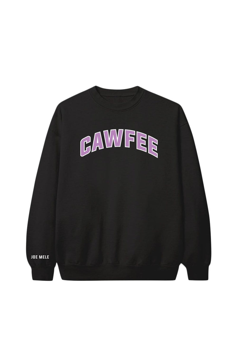Joe Mele: Black 'Cawfee' Crewneck