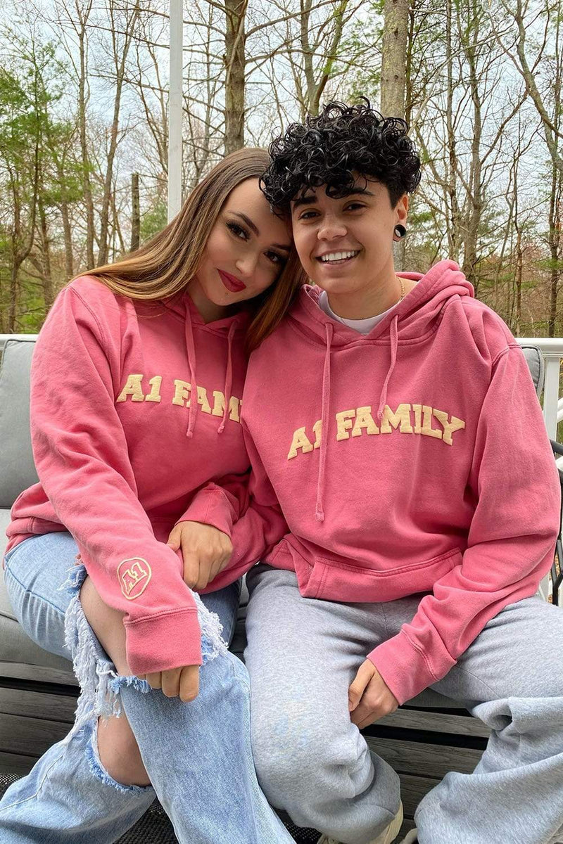 Jules and Saud: A1 Family Pink Hoodie