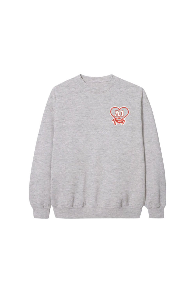 Jules and Saud: Gray A1 Family Crewneck