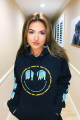 Katrina Stuart Exclusive Melting Blue Rose Hoodie