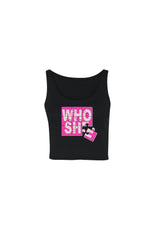 Katrina Stuart 'Who She' Black Cropped Tank