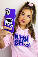 Katrina Stuart 'Who She' Purple Phone Case