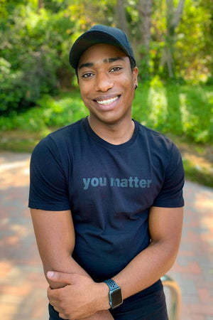 Kevin Langue 1MORE 'You Matter' Black Shirt
