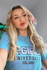 Kiera Bridget: E-Girl University Blue Shirt
