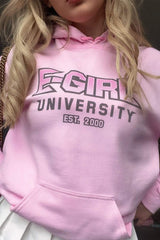 Kiera Bridget: E-Girl University Pink Hoodie