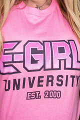Kiera Bridget: E-Girl University Pink Shirt