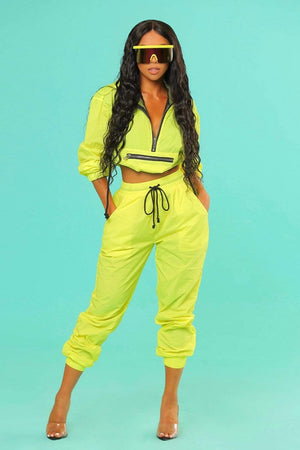 Liane V: Exclusive Neon Windbreaker Jogger