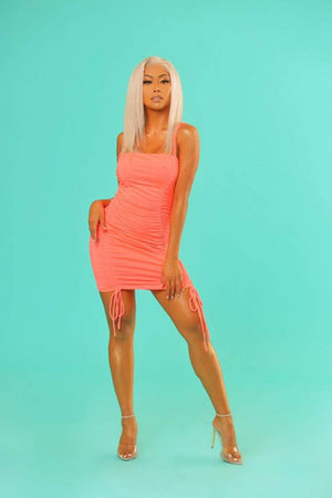 Liane V: Sorbet Ruched Mini Dress