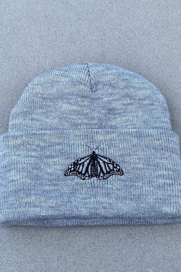 Mads Lewis: Butterfly Grey Beanie