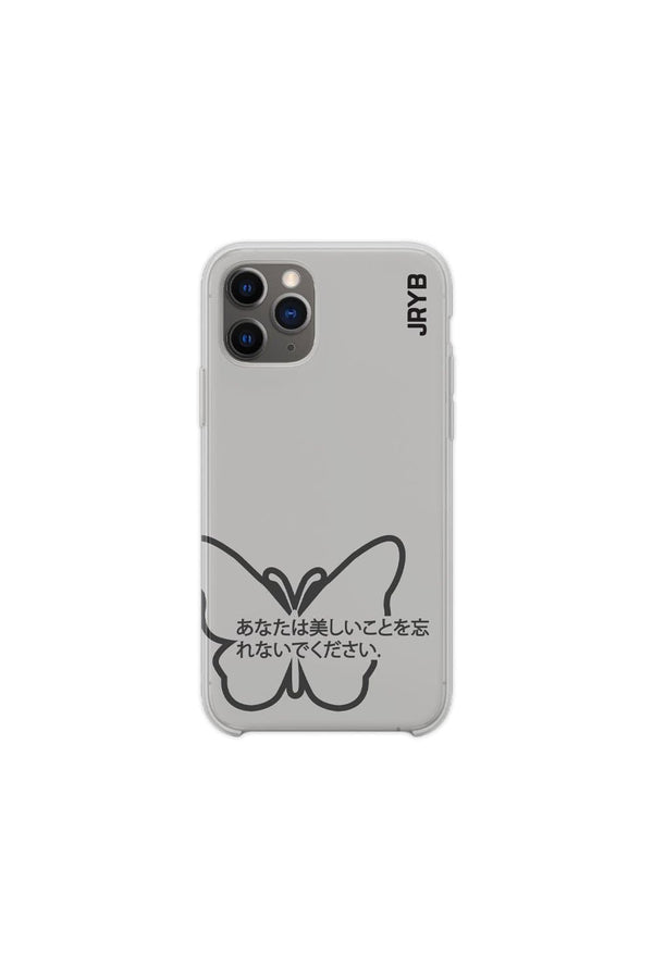 Mads Lewis: Grey Butterfly Phone Case