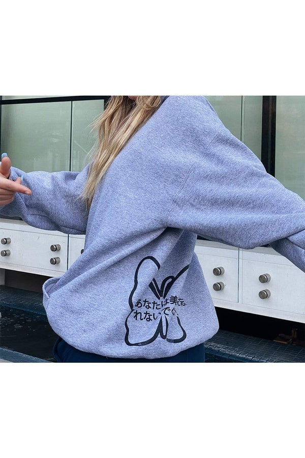 Mads Lewis: Grey JRYB Butterfly Hoodie