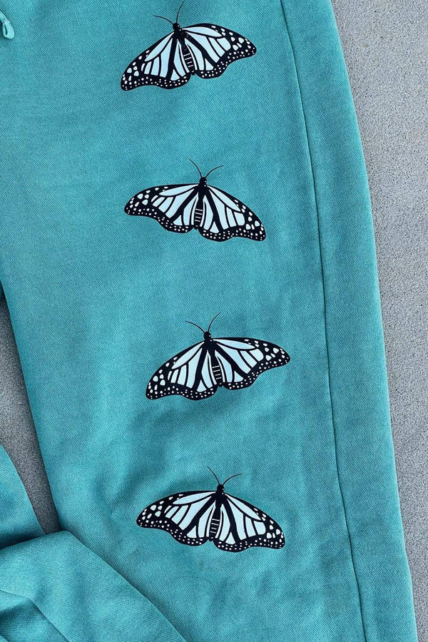 Mads Lewis: Mint Butterflies Joggers