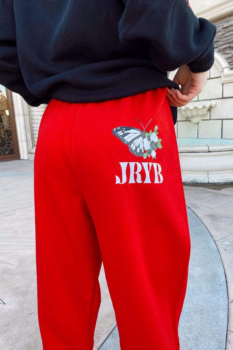 Mads Lewis: Red JRYB Sweatpants