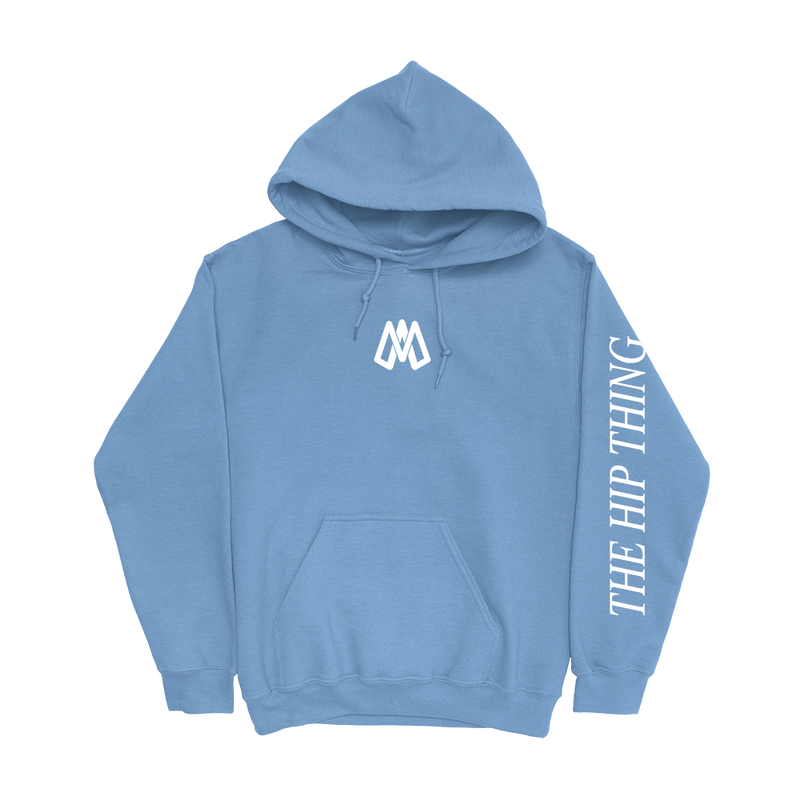 Mark Anastasio 'Monogram' Light Blue Hoodie