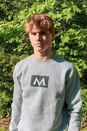 Mark Anastasio 'Signature M' Grey Crewneck