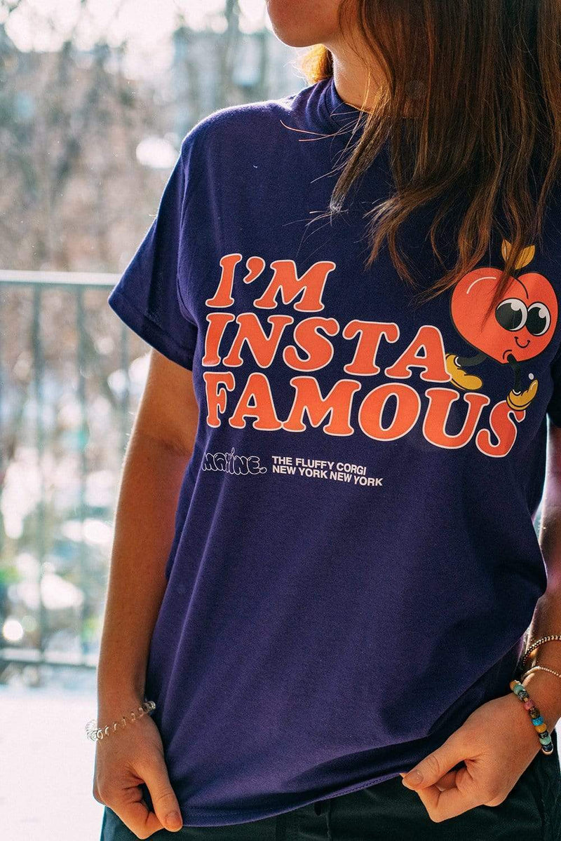 Maxine The Corgi: Purple Insta Famous Shirt