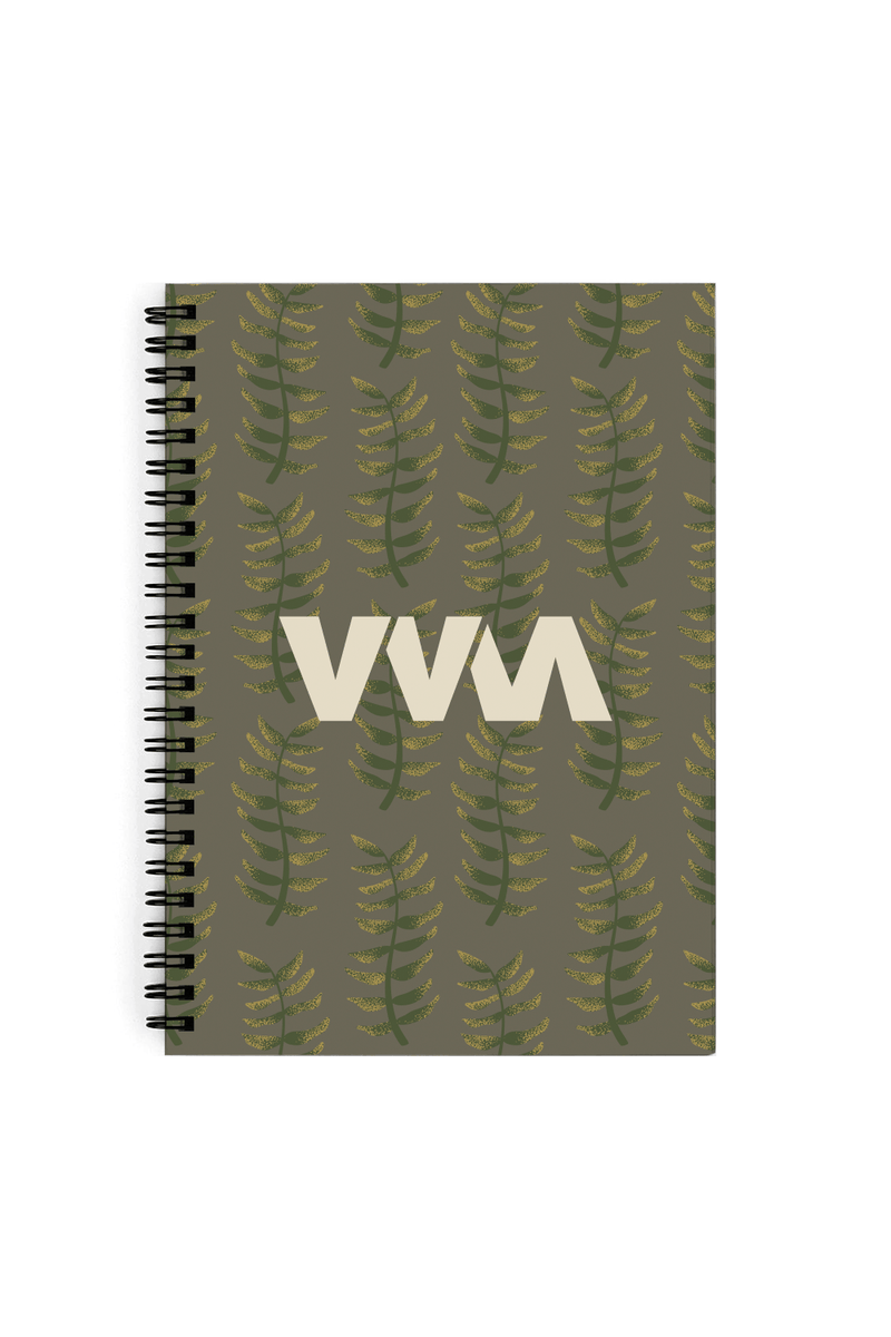 Merrell Twins Fall Leaves Green Notebook