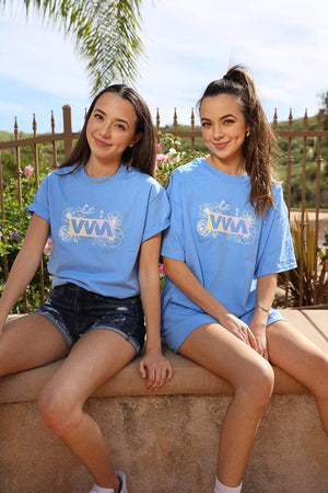 Merrell Twins 'VVM Flowers' Blue Shirt