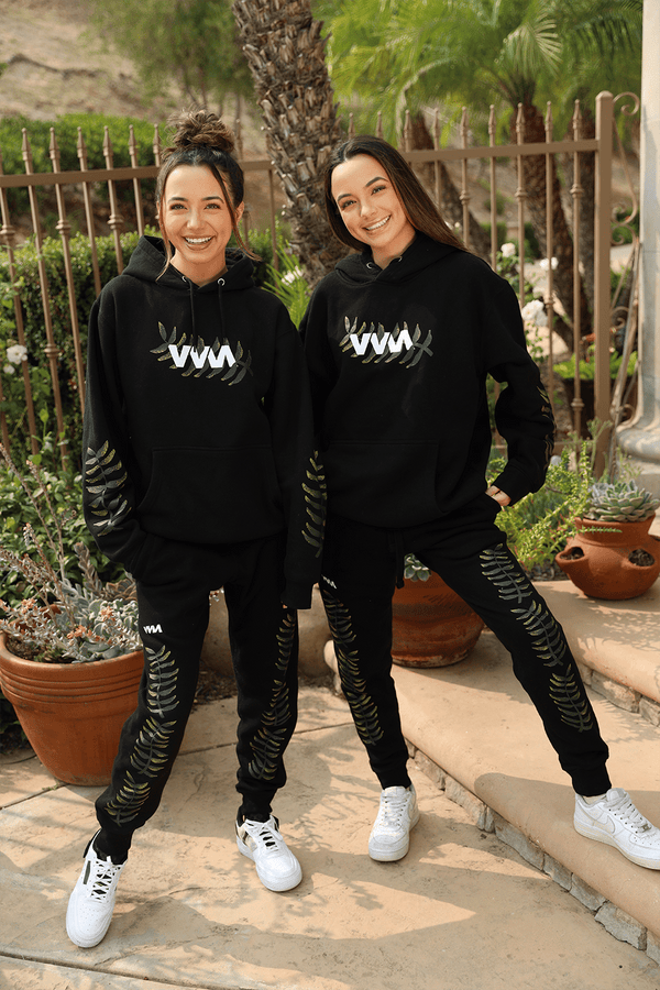 Merrell Twins 'VVM Leaves' Black Joggers