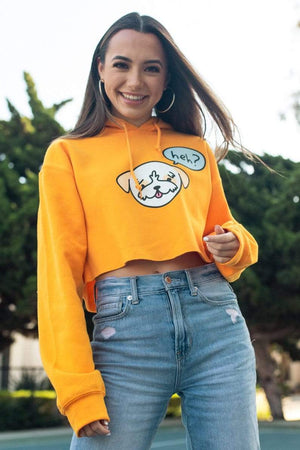 Merrell Twins: Yellow Cropped Tiger Hoodie
