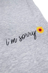 Mia Maples Signature 'I'm Sorry' Joggers