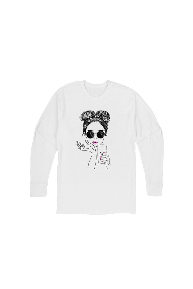 Molly Burke: Kiss White Long Sleeve Shirt