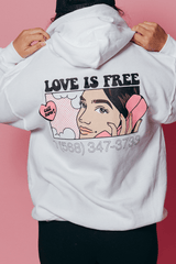 Natalie Noel: Love Is Free White Hoodie