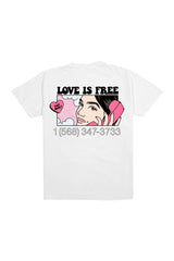 Natalie Noel: Love Is Free White Shirt