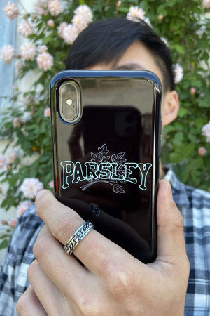 Newton Nguyen 'PARSLEY' Black Phone Case