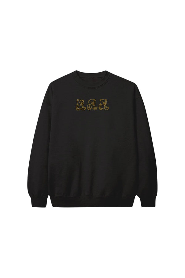 "Nick Austin: ""No Evil"" Black Crewneck"
