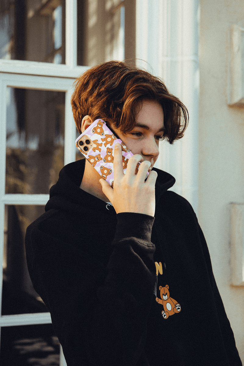 Nick Austin Pink Teddy Bear Phone Case