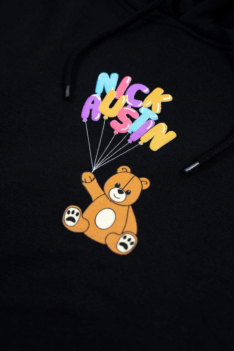 Nick Austin Puff Teddy Bear Black Hoodie