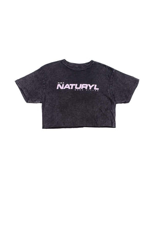 Naturyl Vintage Black Crop Tee by Niykee Heaton