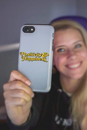 NOISYBUTTERS Exclusive 'Positivity & Happiness' Phone Case