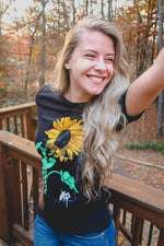 NOISYBUTTERS Exclusive Sunflower Black Shirt