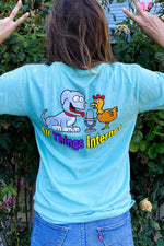 Rachel Ballinger 'All Things Internet' Light Green Shirt