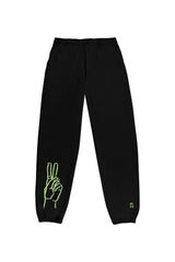 Riley Hubatka 'Neon Peace' Black Joggers