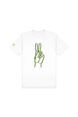Riley Hubatka 'Neon Peace' White Shirt