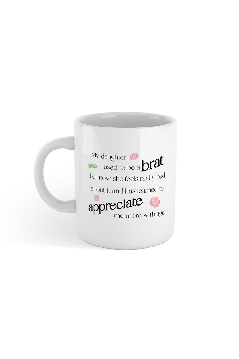 SheRatesDogs: Brat White Mug