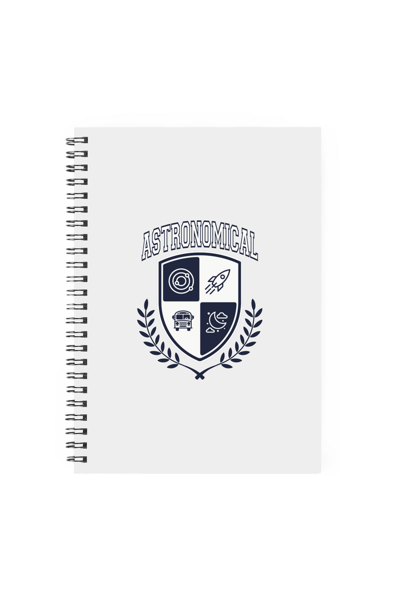 SnarkyMarky 'Astronomical Crest' Grey Notebook