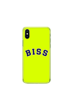 Stephanie Soo Signature 'BISS' Neon Green Phone Case