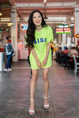 Stephanie Soo Signature 'BISS' Neon Green Shirt