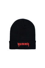 TaraYummy 'Yummy' Embroidered Black Beanie