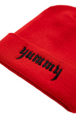 TaraYummy 'Yummy' Embroidered Red Beanie