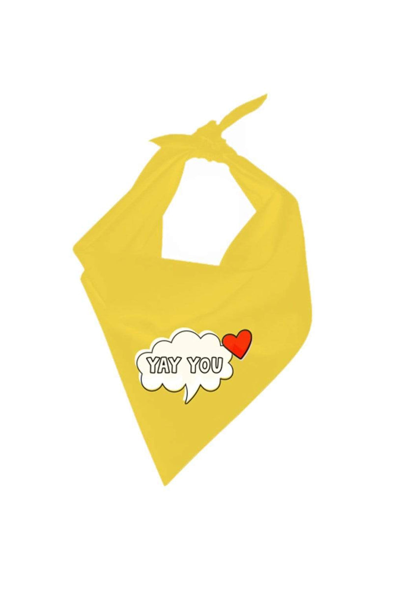 "ColorMeCourtney: Yellow ""Yay You"" Bandana"