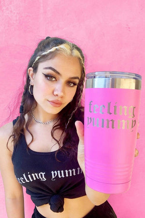 TaraYummy 'Feeling Yummy' Hot Pink 20oz Tumbler