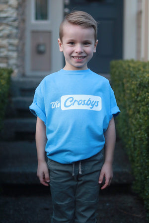 The Crosbys: Blue Youth Crosby Logo Shirt
